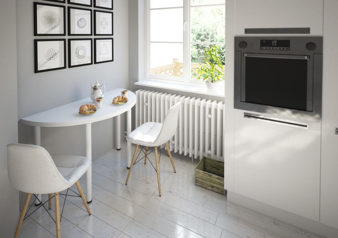Стол-консоль MillWood Далис 1 (дуб белый Craft/металл белый) - фото 2