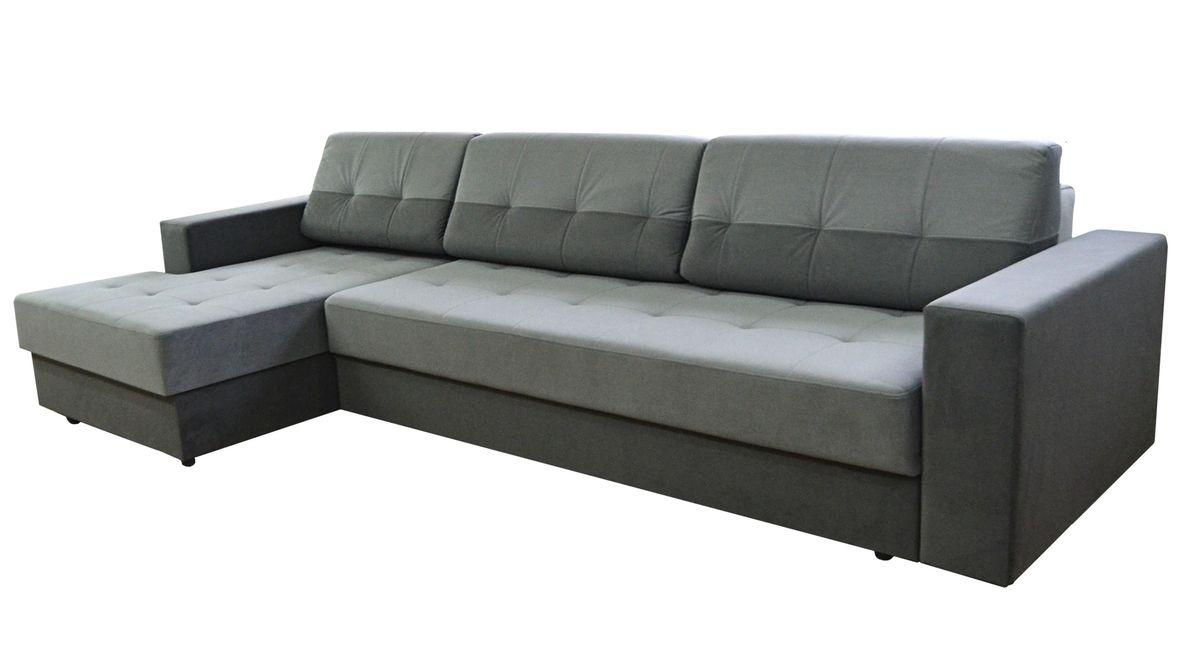 Диван Tiolly Люксор угловой (серый) - фото 1