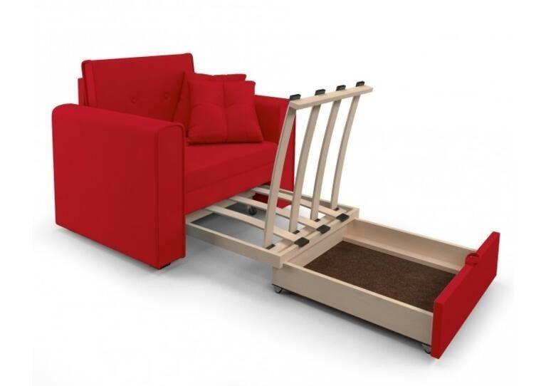 Кресло Craftmebel Санта (кордрой красный) - фото 4