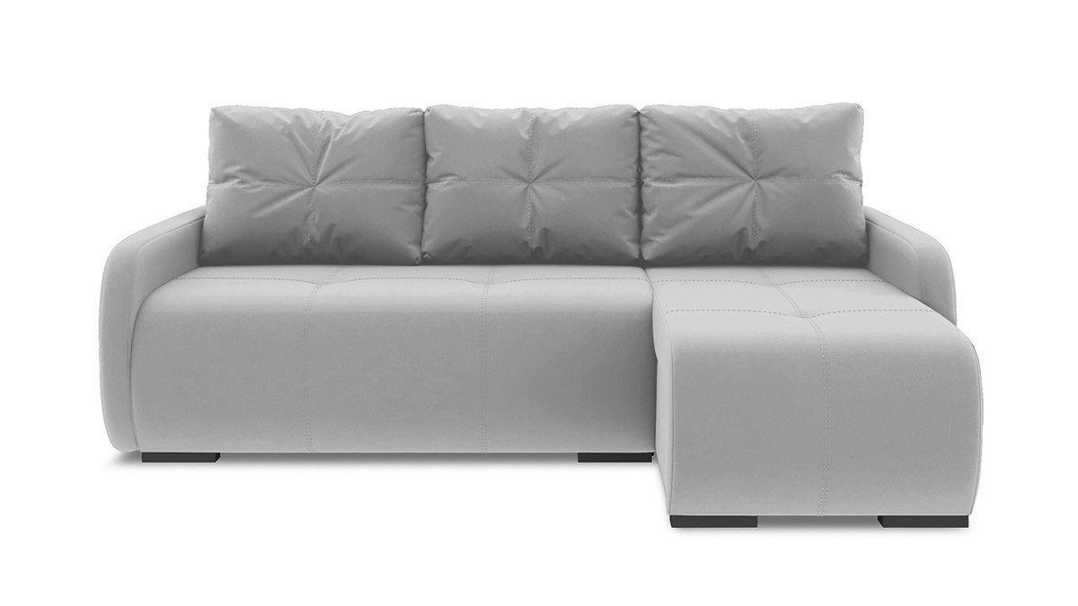 Диван ТриЯ правый «Томас Slim Т1» (Neo 07 (рогожка) светло-серый) - фото 2