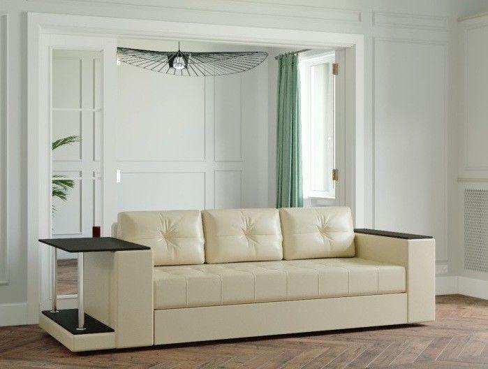 Диван Настоящая мебель Ванкувер Лайт со столом (модель 00-00003450) бежевый - фото 1