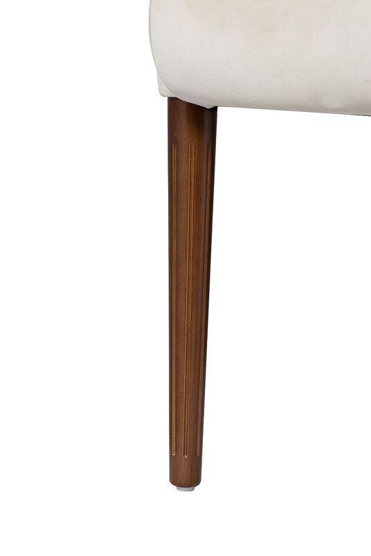 Кресло Garda Decor FC-32BG (бежевое стеганое велюровое) - фото 5