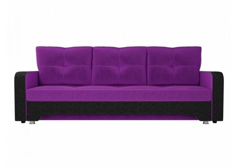 Диван Craftmebel Ник-3 фиолетовый вельвет - фото 1