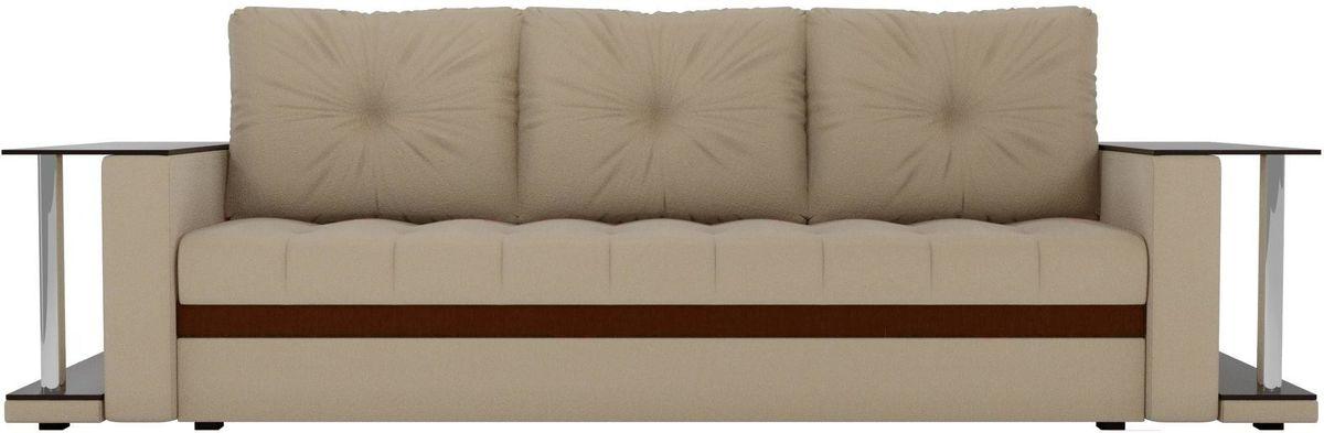 Диван Mebelico Атланта М 2 стола рогожка бежевый - фото 1