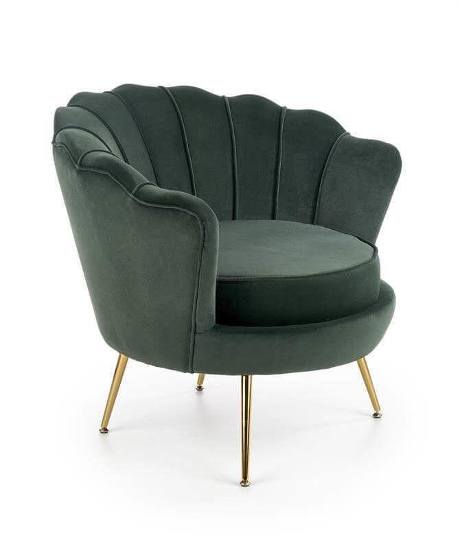 Кресло Halmar AMORINITO (темно-зеленый/золотой) V-CH-AMORINITO-FOT-C.ZIELONY - фото 1