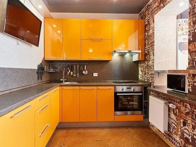 Кухня Шеф кухни из пластика Оранжевый апельсин - фото 10