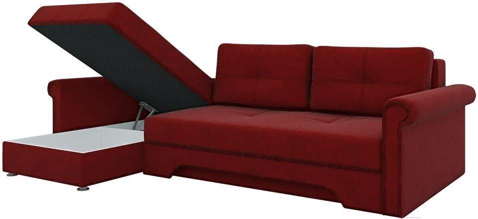 Диван Mebelico Гранд 491 левый 57912 вельвет красный - фото 3