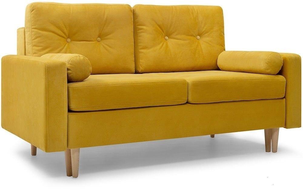 Диван Woodcraft прямой Динс-2 Velvet Yellow - фото 2