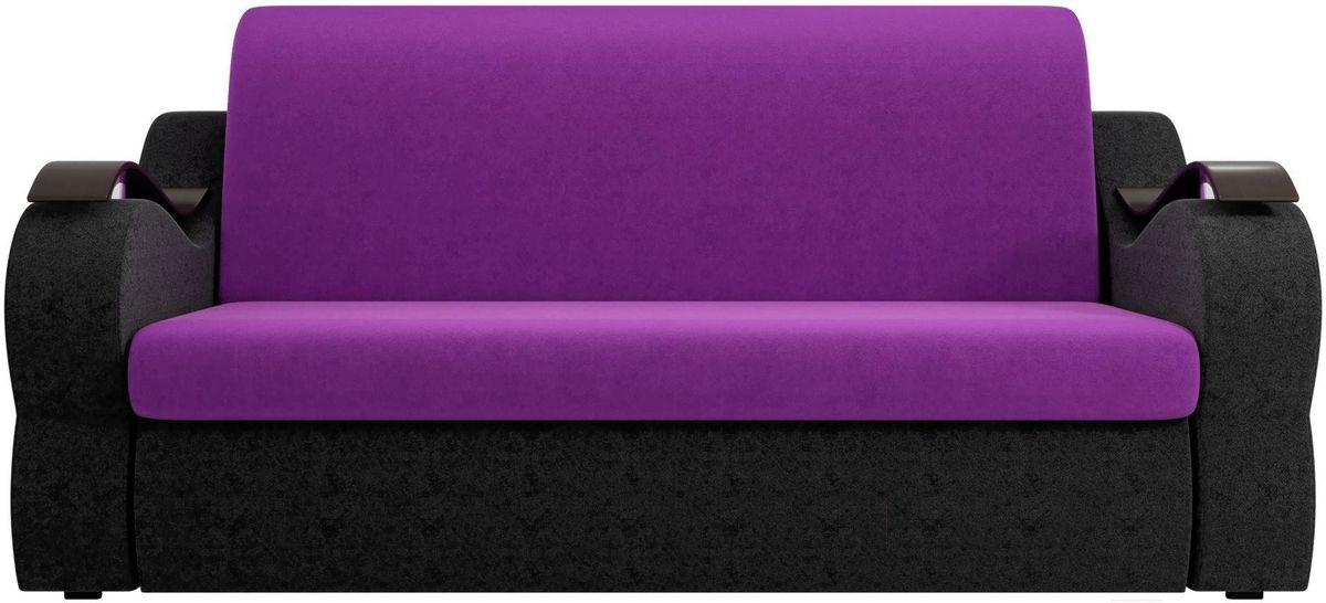 Диван Mebelico Меркурий 222 140,вельвет фиолетовый/черный - фото 1