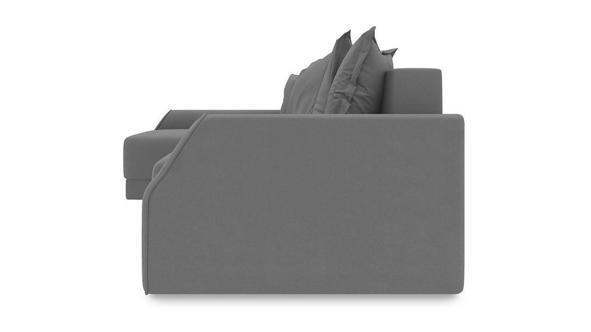Диван ТриЯ левый «Люксор Slim Т2» (Neo 07 (рогожка) светло-серый) - фото 3