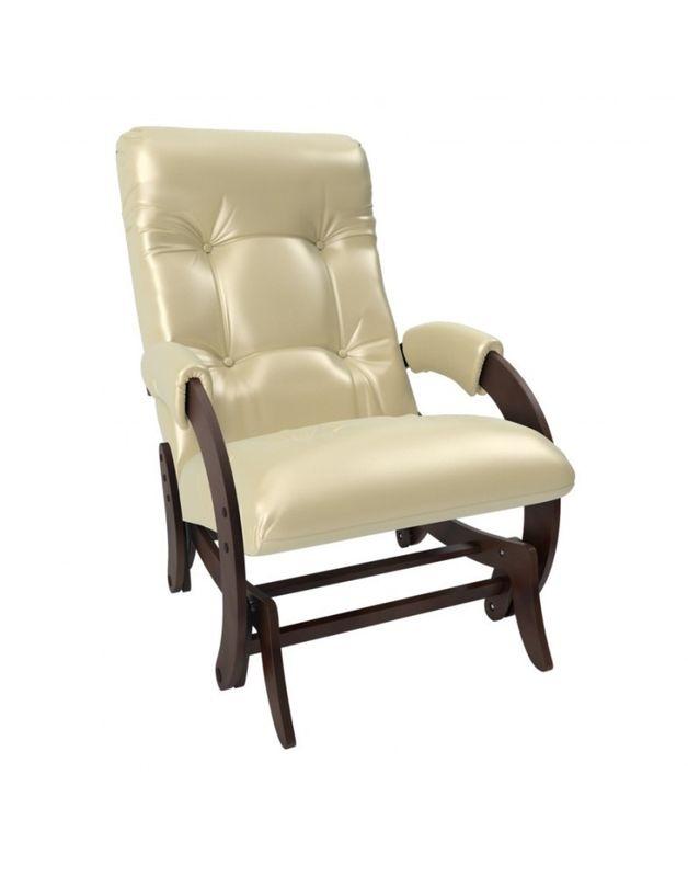 Кресло Impex Кресло-гляйдер Модель 68 экокожа орех (polaris beige) - фото 3