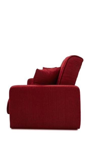 Диван Луховицкая мебельная фабрика Милан 120х190 гобелен/шенилл красный - фото 3