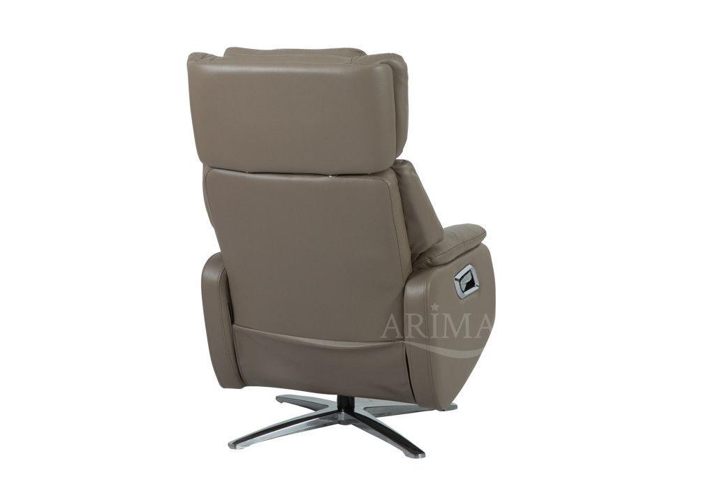 Кресло Arimax Dr Max DM02009 (Кофе с молоком) с подставкой для ног - фото 4