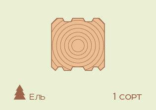 Брус Профилированный Ель, 1 сорт - фото 1
