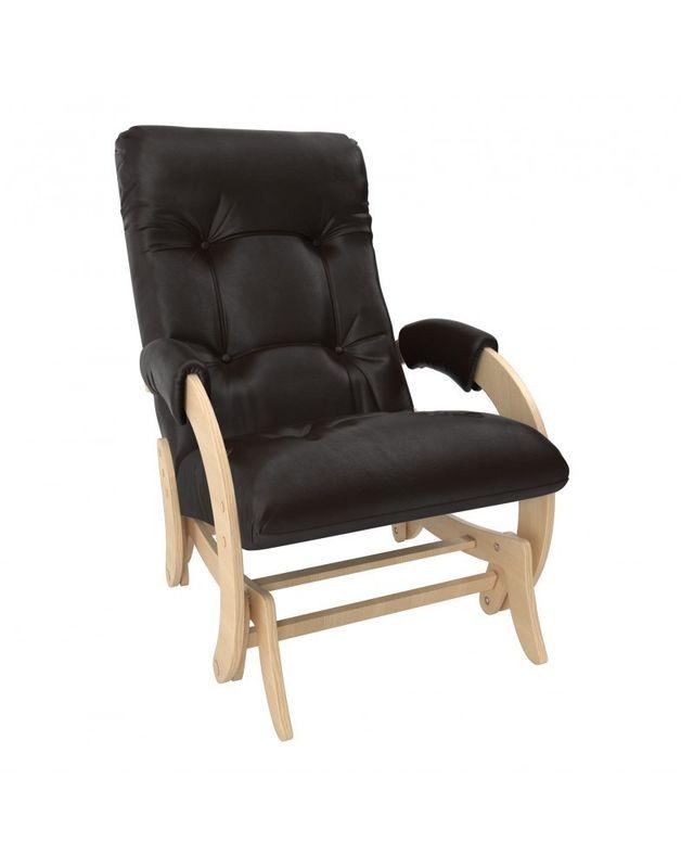 Кресло Impex Кресло-гляйдер Модель 68 экокожа натуральный (Антик-крокодил) - фото 2