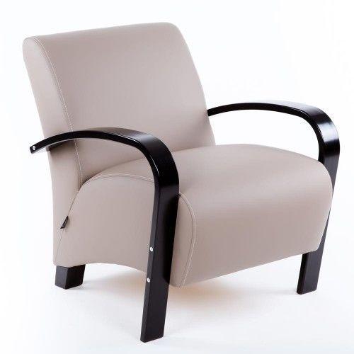 Кресло Greentree Балатон венге/экокожа Мускат - фото 1