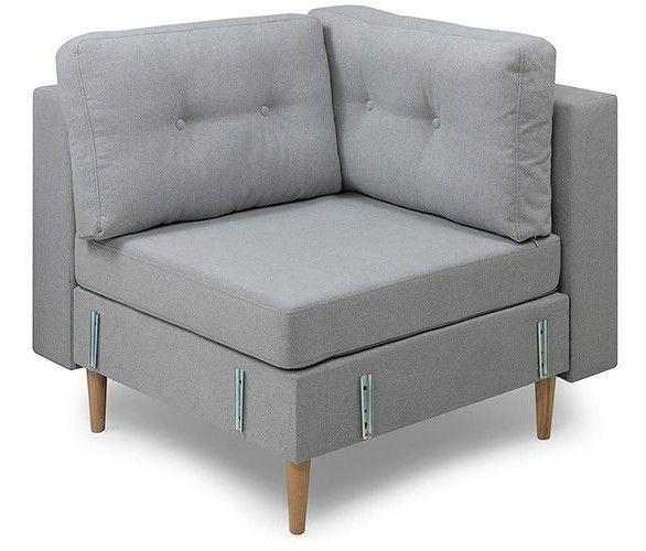 Кресло Woodcraft угловое Динс Sherst Grey - фото 1