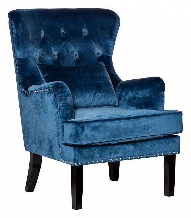Кресло Garda Decor Кресло для гостиной Garda Dеcor 24YJ-7004-06466/1 GRD_TT-00000098, синий - фото 1