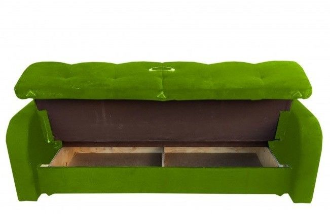 Диван Луховицкая мебельная фабрика Марсель (велюр зеленый) 140x190 - фото 3