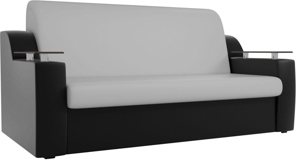 Диван Mebelico Сенатор 100724 140, экокожа белый/черный - фото 1