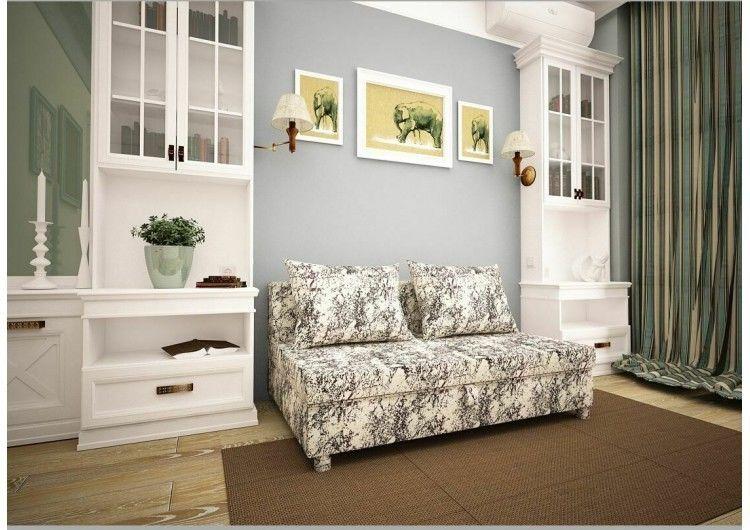 Диван Раевская мебельная фабрика Малыш флок люкс Нео белый 00583 - фото 1