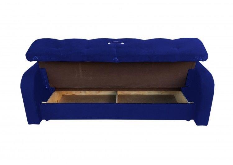 Диван Луховицкая мебельная фабрика Марсель (велюр синий) 120x190 - фото 2