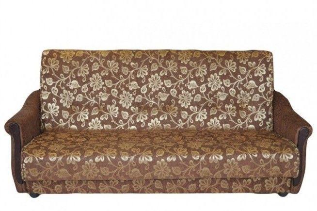Диван Луховицкая мебельная фабрика Уют коричневый (120x190) пружинный - фото 1