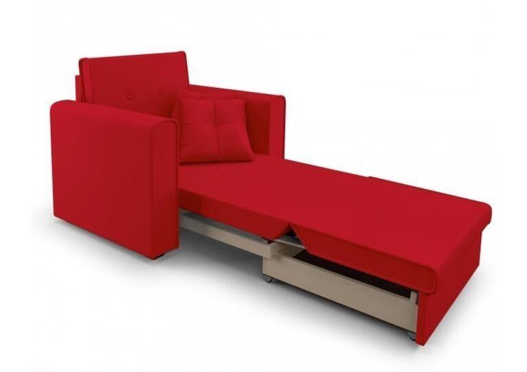 Кресло Craftmebel Санта (кордрой красный) - фото 2