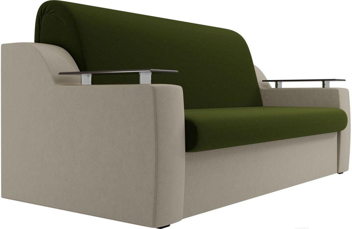 Диван Mebelico Сенатор 100711 160, микровельвет зеленый/бежевый - фото 4