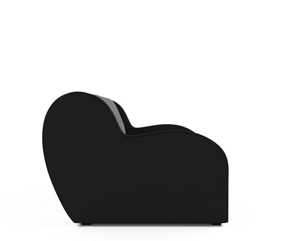 Кресло Мебель-АРС Аккордеон Барон серый (рогожка + экокожа) - фото 3