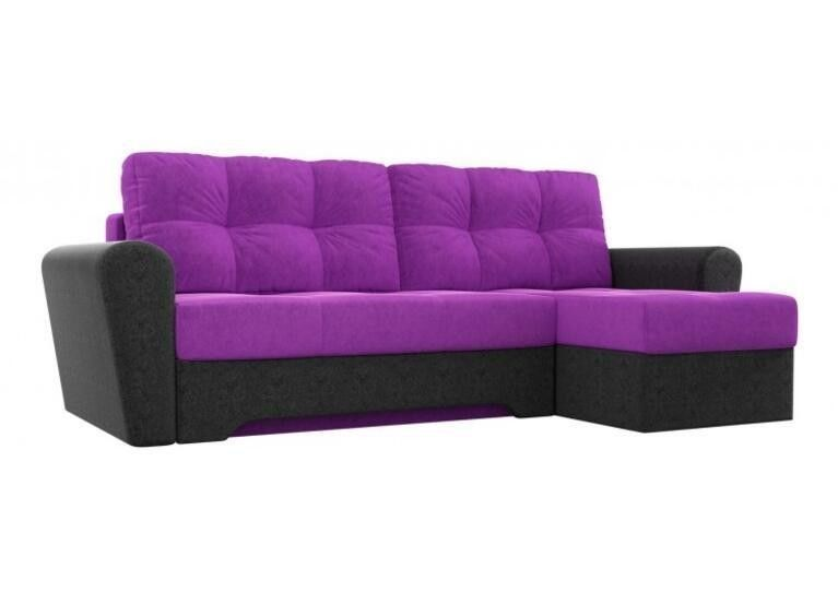 Диван Craftmebel Угловой Амстердам фиолетово-чёрный - фото 1