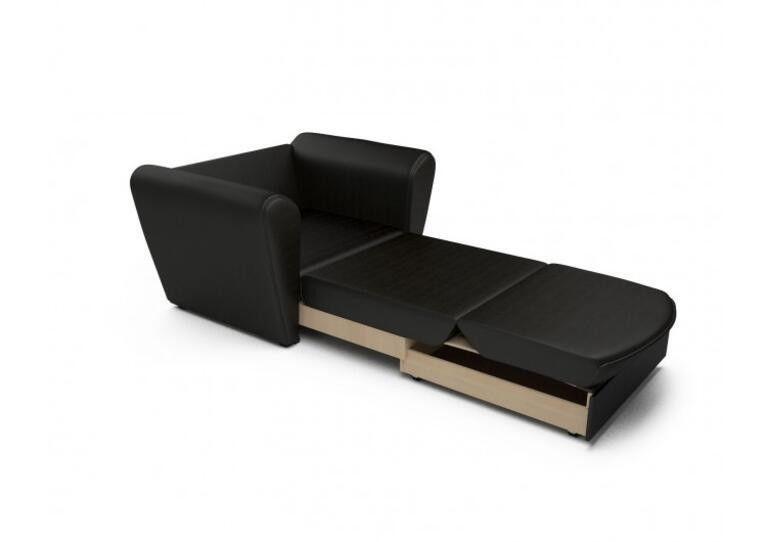 Кресло Craftmebel Квартет - экокожа черная - фото 2