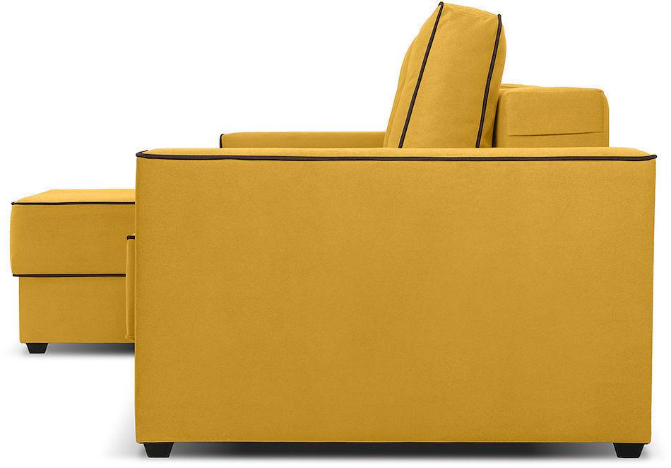 Диван Woodcraft Менли Velvet угловой НПБ холлофайбер Yellow - фото 3