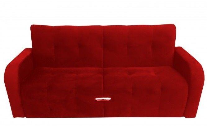Диван Луховицкая мебельная фабрика Марсель (велюр красный) 140x190 - фото 1
