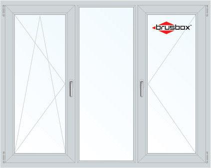 Окно ПВХ Brusbox 2060*1420 2К-СП, 4К-П, П/О+Г+П - фото 1