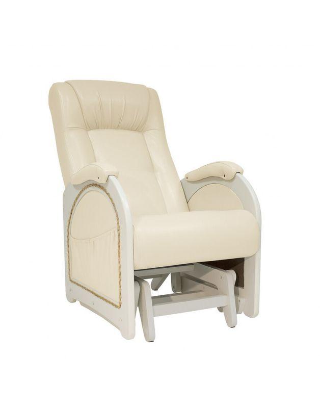 Кресло Impex Кресло-гляйдер Модель 48 экокожа сливочный (oregon 106) - фото 2