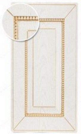 Мебельный фасад ЗОВ Глазго БЗ (белый, патина золото, структура) - фото 1