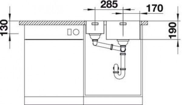 Мойка для кухни Blanco Andano 340/180-IF/A (522996) - фото 2