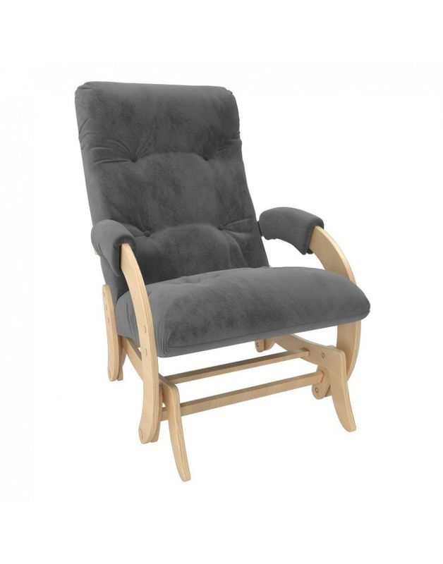 Кресло Impex Кресло-гляйдер Модель 68 Verona натуральный (Antrazite grey) - фото 1
