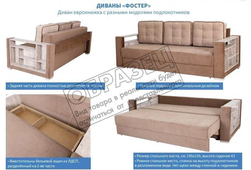 Диван Мебель Холдинг МХ11 Фостер-1 [Ф-1-2ФП-3-414-4B-OU] - фото 2