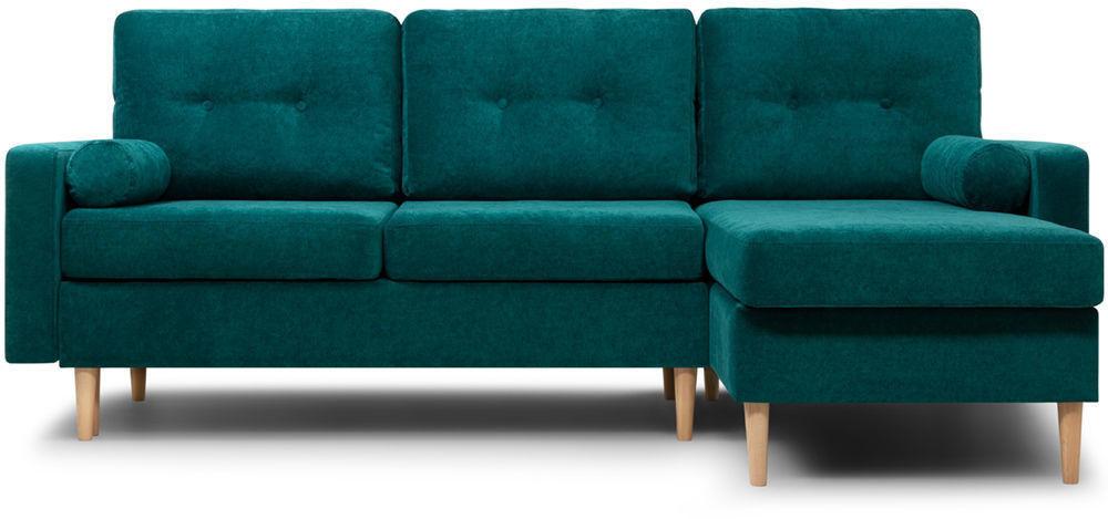Диван Woodcraft Динс Velvet Угловой Emerald - фото 1
