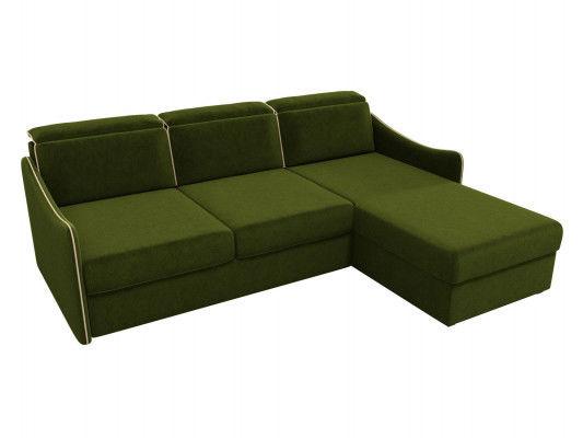 Диван ЛигаДиванов Скарлетт 125 угловой левый 60675 вельвет зеленый - фото 2
