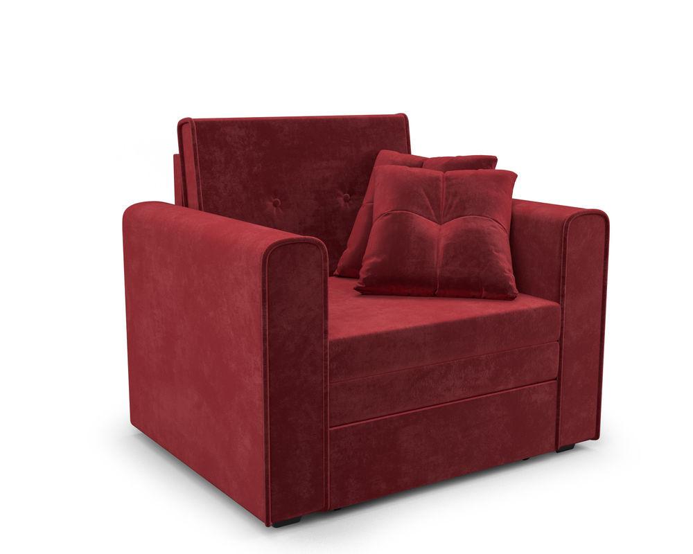 Кресло Мебель-АРС Санта (бархат красный) - фото 1