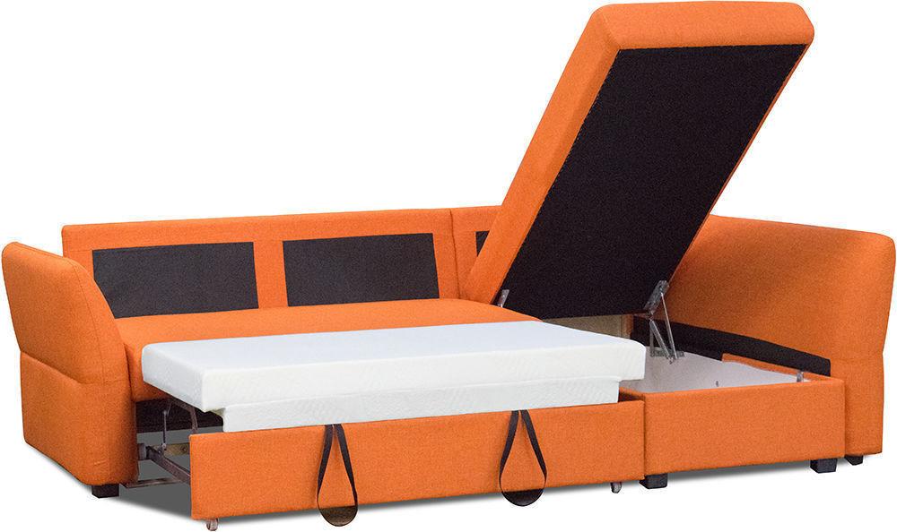 Диван Woodcraft Угловой Гесен Textile Orange - фото 4