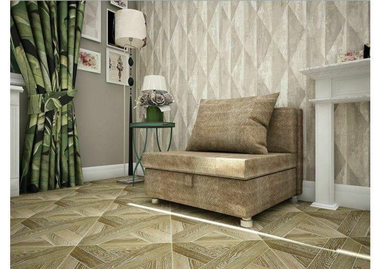 Кресло Раевская мебельная фабрика Флок светло коричневый 00728 - фото 1