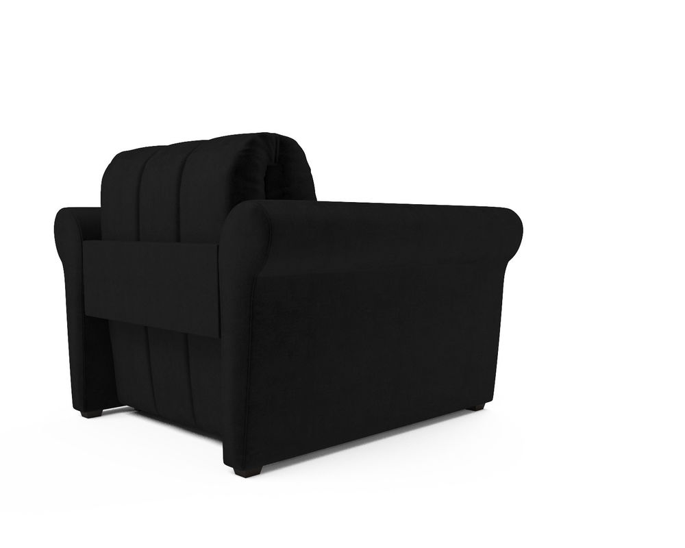 Кресло Мебель-АРС Гранд черный велюр (НВ-178/17) - фото 4