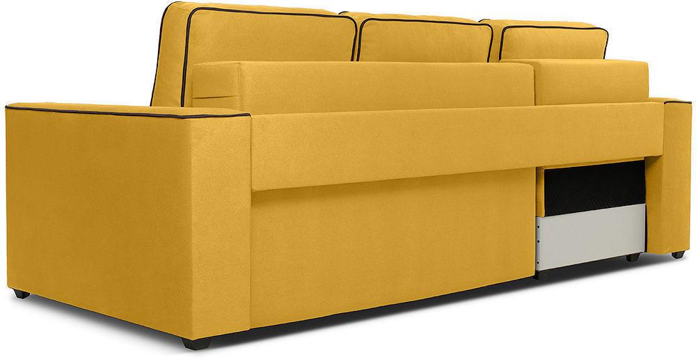 Диван Woodcraft Менли Velvet угловой НПБ холлофайбер Yellow - фото 4