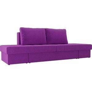 Диван ЛигаДиванов Сплит микровельвет фиолетовый - фото 1