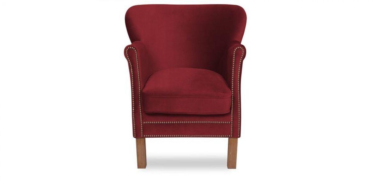 Кресло WOWIN Голден (Бордовый велюр) - фото 2