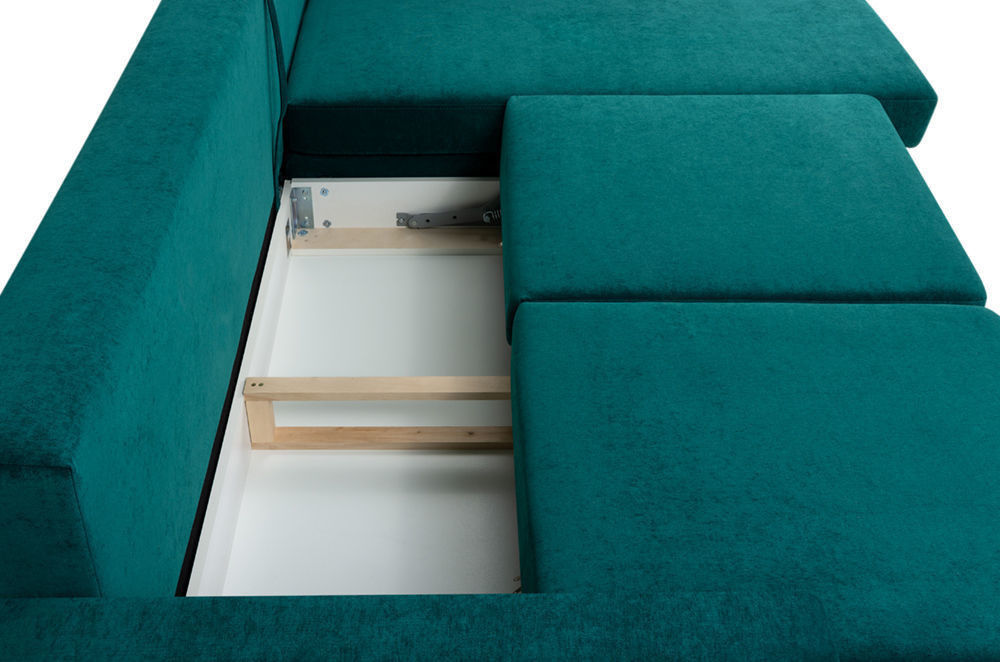 Диван Woodcraft Динс Velvet Угловой Emerald - фото 6